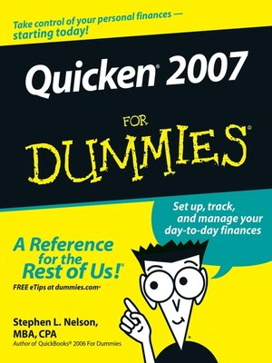 cover image of Quicken 2007 For Dummies