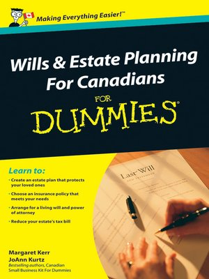 cover image of Wills and Estate Planning For Canadians For Dummies