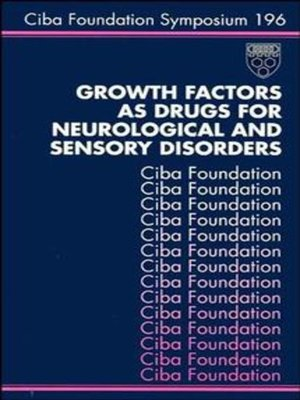 cover image of Growth Factors as Drugs for Neurological and Sensory Disorders