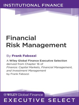 cover image of Financial Risk Management