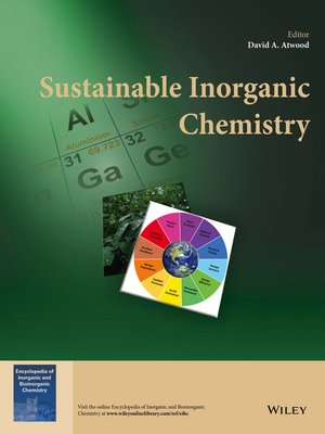 cover image of Sustainable Inorganic Chemistry