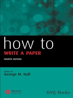 cover image of How to Write a Paper