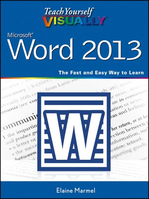 cover image of Teach Yourself VISUALLY Word 2013