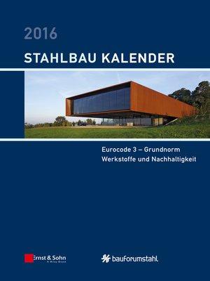 cover image of Stahlbau-Kalender 2016