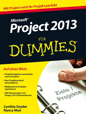 cover image of Microsoft Project 2013 für Dummies