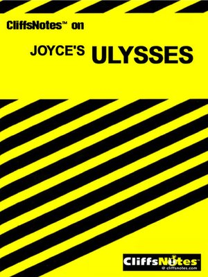 cover image of CliffsNotes<sup>TM</sup> Ulysses