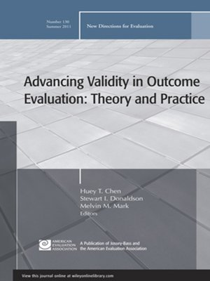 cover image of Advancing Validity in Outcome Evaluation
