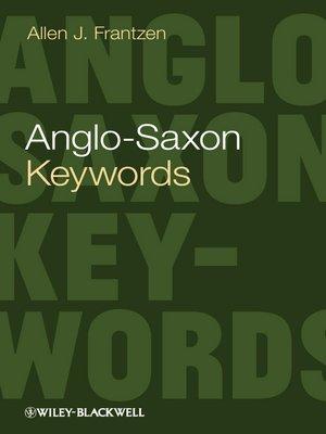 cover image of Anglo-Saxon Keywords