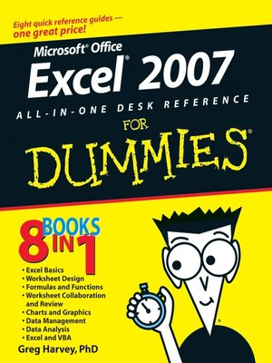 cover image of Excel 2007 All-In-One Desk Reference For Dummies