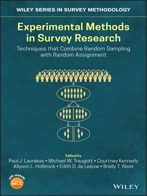 cover image of Experimental Methods in Survey Research