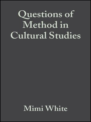cover image of Questions of Method in Cultural Studies