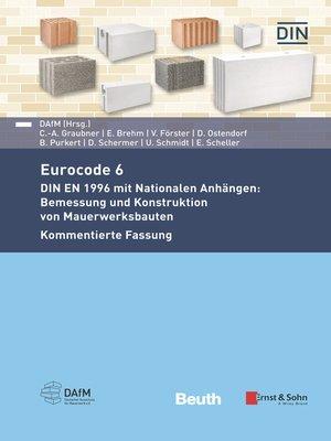 cover image of Eurocode 6--DIN EN 1996 mit Nationalen Anhängen