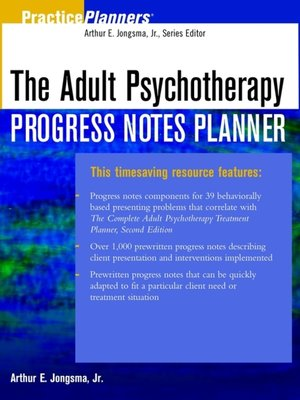 cover image of The Adult Psychotherapy Progress Notes Planner