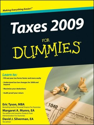 cover image of Taxes 2009 For Dummies®