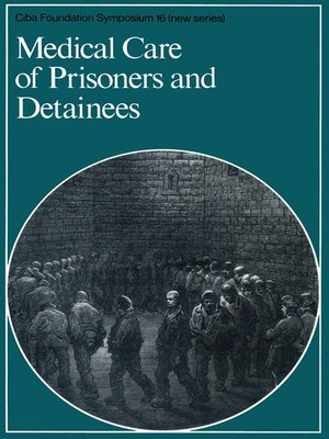 cover image of Medical Care of Prisoners and Detainees