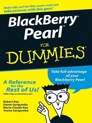 cover image of BlackBerry Pearl For Dummies