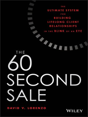 cover image of The 60 Second Sale