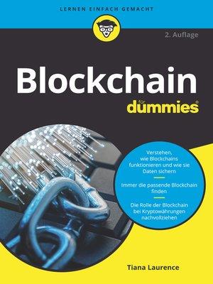 cover image of Blockchain für Dummies