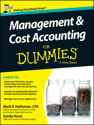 cover image of Management and Cost Accounting For Dummies--UK