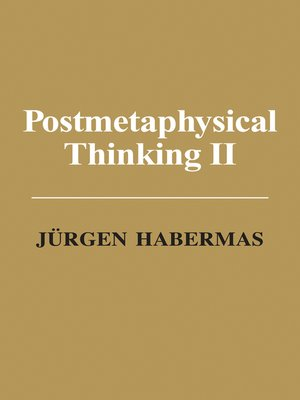 cover image of Postmetaphysical Thinking II