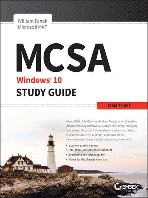 cover image of MCSA Microsoft Windows 10 Study Guide