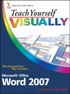 cover image of Teach Yourself VISUALLY Word 2007