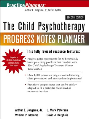 cover image of The Child Psychotherapy Progress Notes Planner