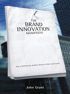 cover image of Brand Innovation Manifesto