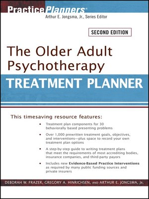 cover image of The Older Adult Psychotherapy Treatment Planner