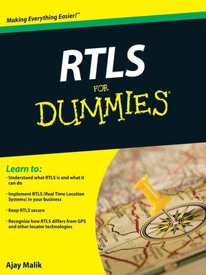 RTLS For Dummies ISBN PDF epub