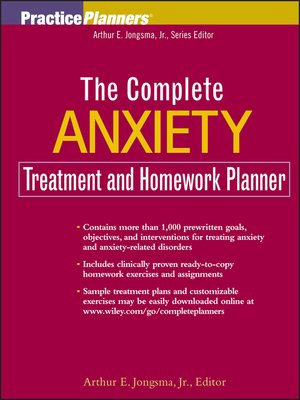 cover image of The Complete Anxiety Treatment and Homework Planner