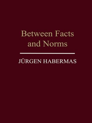 cover image of Between Facts and Norms