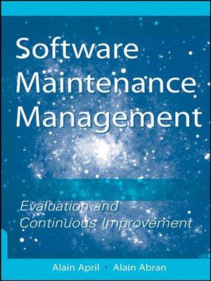 Software Maintenance Management by Alain April · OverDrive