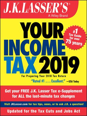 cover image of J.K. Lasser's Your Income Tax 2019