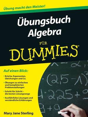 cover image of Ubungsbuch Algebra fur Dummies