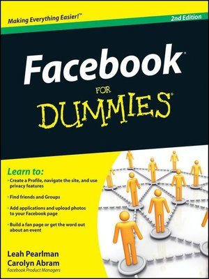 cover image of Facebook For Dummies