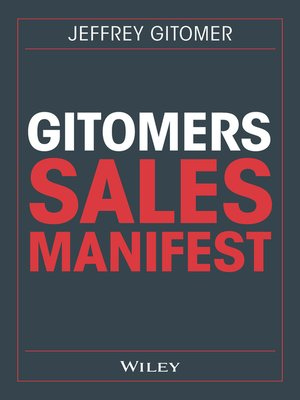 cover image of Gitomers Sales-Manifest
