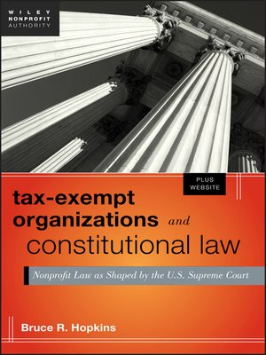 cover image of Tax-Exempt Organizations and Constitutional Law