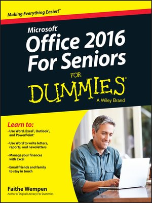 cover image of Office X For Seniors For Dummies