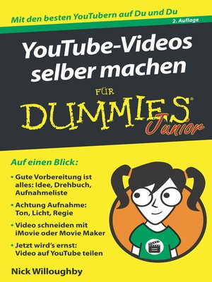 cover image of YouTube-Videos selber machen für Dummies Junior