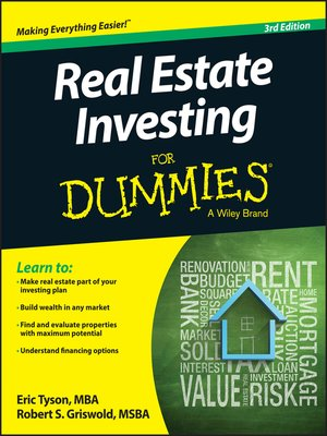 cover image of Real Estate Investing For Dummies