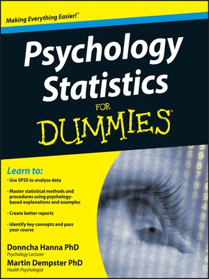 cover image of Psychology Statistics For Dummies