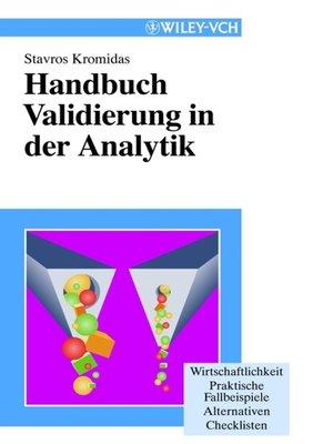 cover image of Handbuch Validierung in der Analytik