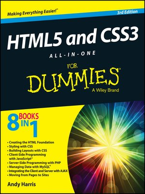 cover image of HTML5 and CSS3 All-in-One For Dummies
