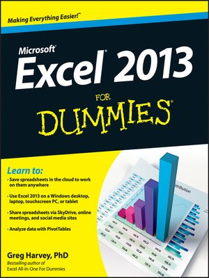 cover image of Excel 2013 For Dummies