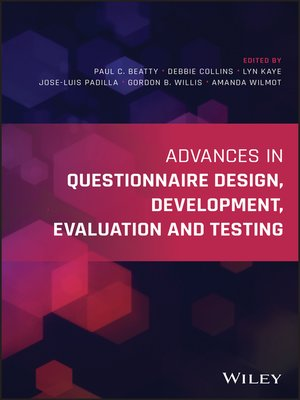 cover image of Advances in Questionnaire Design, Development, Evaluation and Testing