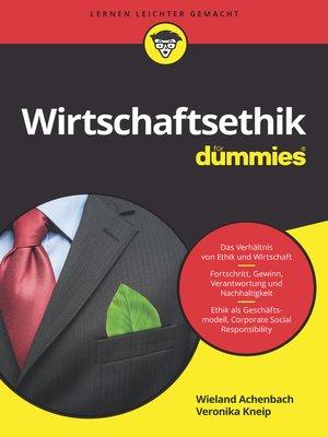 cover image of Wirtschaftsethik für Dummies