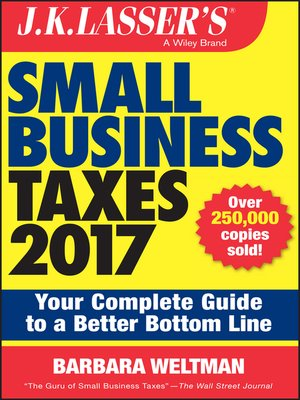 cover image of J.K. Lasser's Small Business Taxes 2017