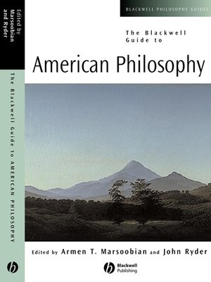 cover image of The Blackwell Guide to American Philosophy