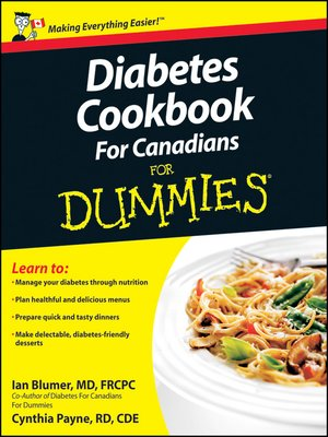 cover image of Diabetes Cookbook For Canadians For Dummies